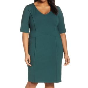 Green midi dress size 22